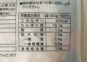 ミニストップのほぐしサラダチキンの栄養成分表示