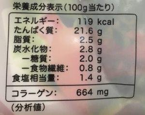 アマタケのサラダチキンカレーの栄養成分表示