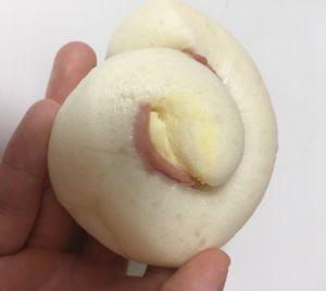 ローソンの糖質オフのふっくらパンチーズとハムの見た目
