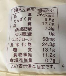 ローソンのブランのドーナツの栄養成分表示