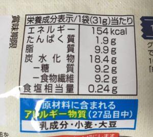 ローソンのSUNAO発酵バターの栄養成分表示