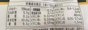 ファミマのRIZAP 5Diet ダイエットサポートゼリーの栄養成分表示
