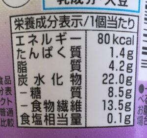 ローソンのSUNAO ラムレーズンの栄養成分表示