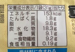 ローソンのSUNAO シチリアレモンの栄養成分表示