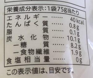 セブンのキウイフルーツの栄養成分表示