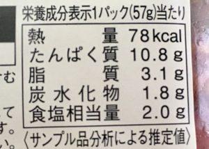 ファミマのパストラミビーフの栄養成分表示