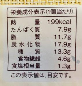 ローソンの大麦のハムたまごロールの栄養成分表示