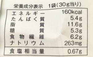 ローソンの北海道産チーズを使ったこんがりラスクの栄養成分表示