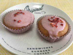 ローソンのアーモンドケーキ いちご