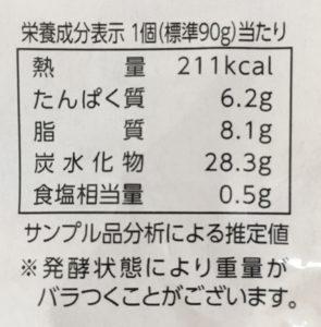 ローソンのふわふわ、とろとろのフレンチトーストの栄養成分表示