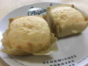 ローソンのプロテイン入りチーズ蒸しケーキ 2個入