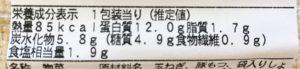 ファミマの酢もつの栄養成分表示