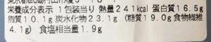 セブンのラップロール グリルチキン シーザーソースの栄養成分表示