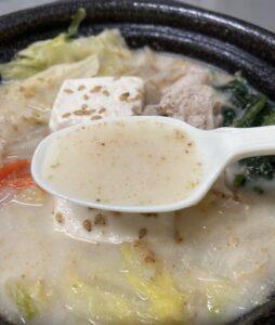 ファミマのごま豆乳鍋