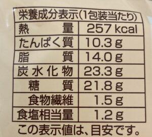 ファミマのツナ&チーズパンの栄養成分表示