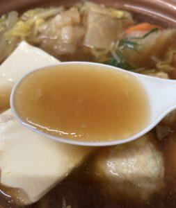 セブンの1/2日分の野菜 鶏ちゃんこ鍋のスープ