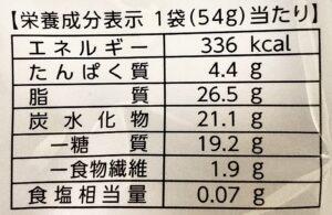 セブンの低糖質ミルクチョコレートの栄養成分表示