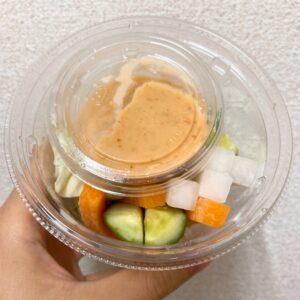 セブンの味噌マヨネーズ増量 野菜スティック